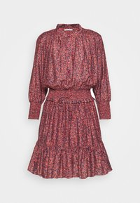 DRESS - Shirt dress - red/blue