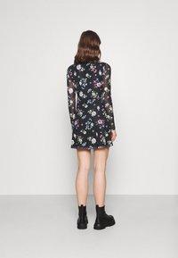 Even&Odd - FLARED ALL OVER MESH MINI DRESS - Day dress - black /blue/rose - 2