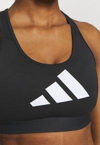 adidas Performance - 3 BAR BRA - Sports-BH-er med medium støtte - black/grey four/white - 5