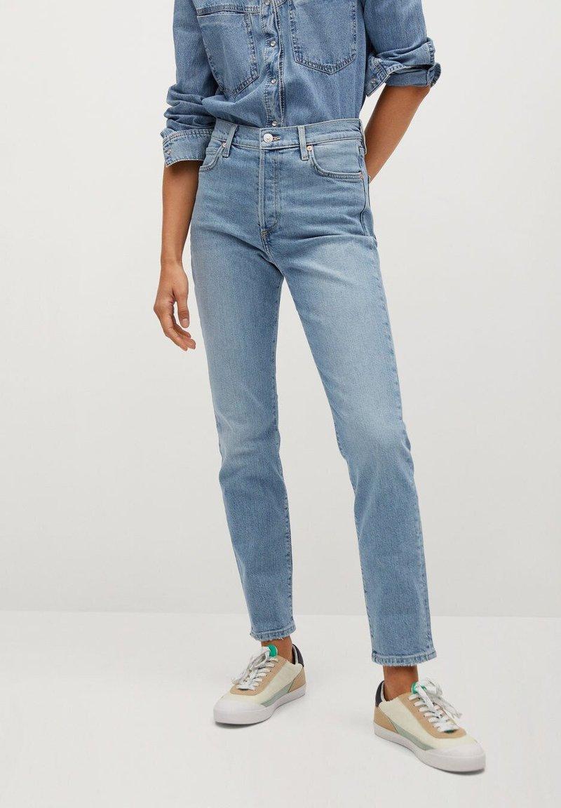 Mango - GISELE - Jeans slim fit - mittelblau