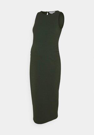 BODY CON DRESS - Jersey dress - khaki