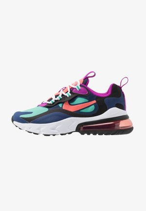 AIR MAX 270 REACT - Trainers - blue void/magic ember/black/kinetic green