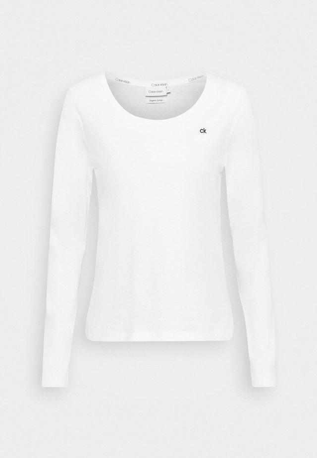 SCOOP NECK - Long sleeved top - bright white