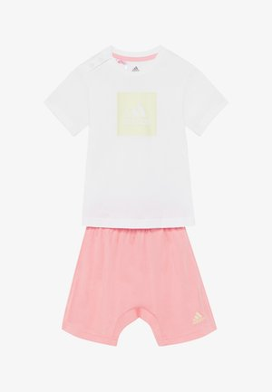 LOGO SUMMER TRACKSUIT BABY SET - Chándal - white/yellow