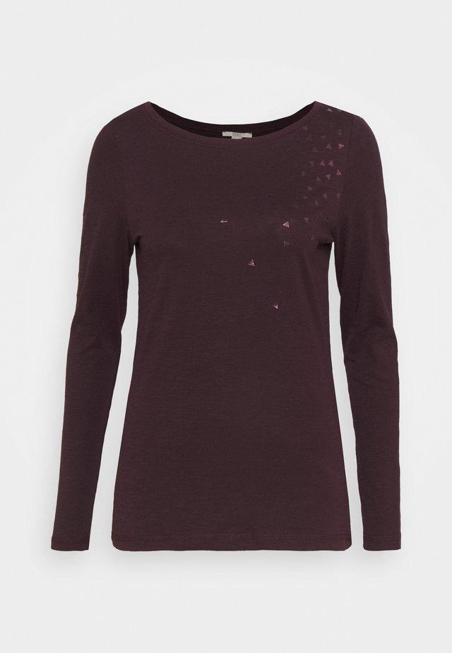 CORE - T-shirt à manches longues - aubergine