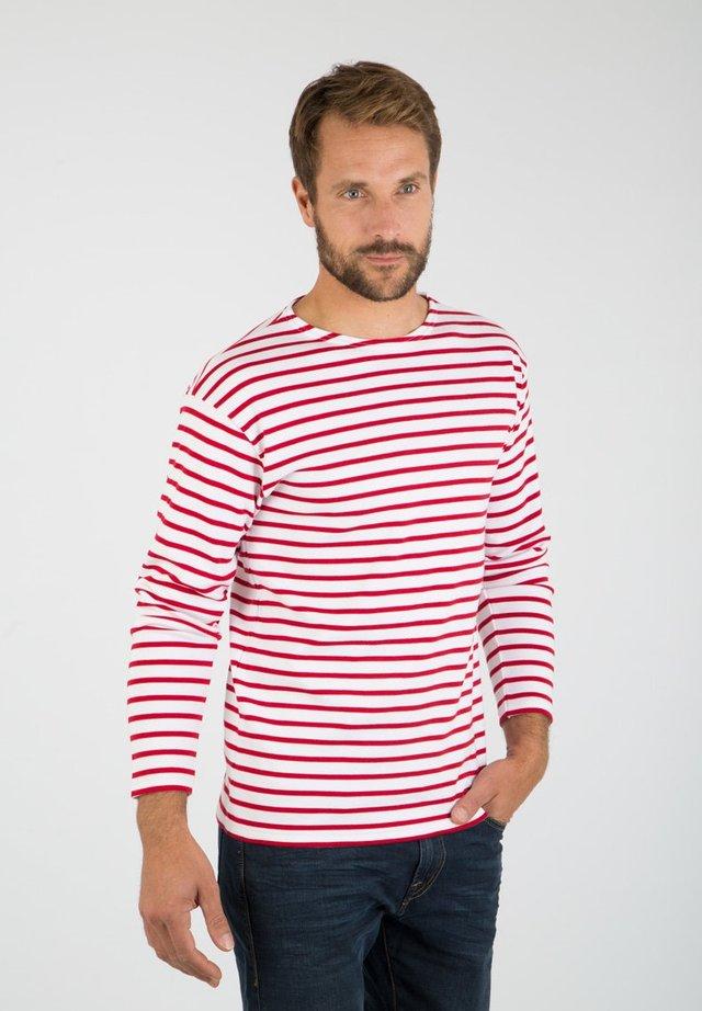 LOCTUDY - MARINIÈRE - T-SHIRT - T-shirt à manches longues - blanc  braise