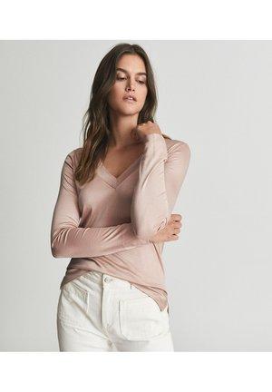 SELENA - Long sleeved top - light stone