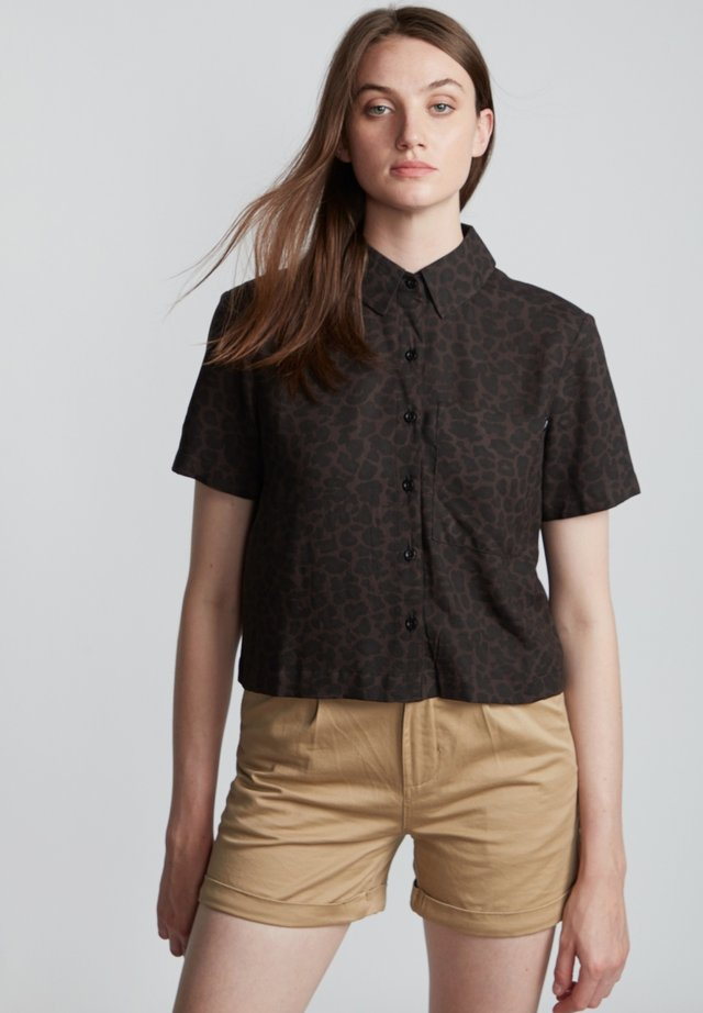 RAMBLIN  - Button-down blouse - black leopard