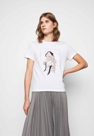 TAPIA - T-shirt z nadrukiem - ecru