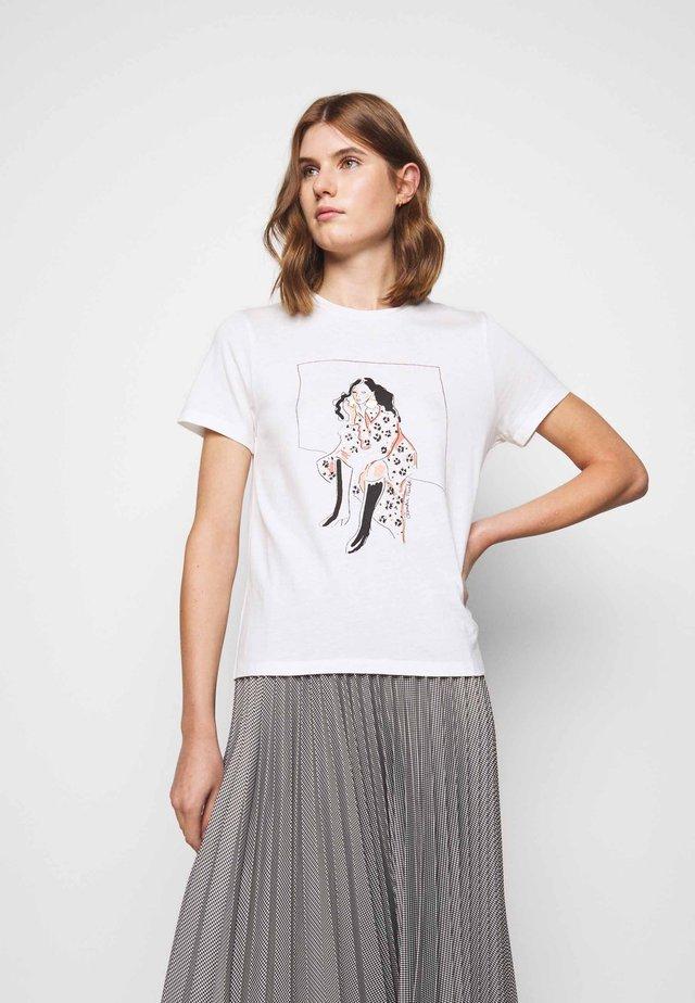 TAPIA - Print T-shirt - ecru
