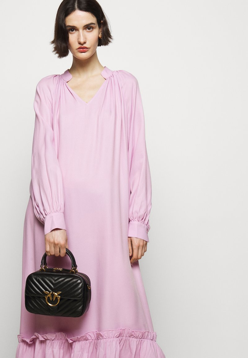 Pinko - LOVE MINI SQUARE QUILT - Handbag - black