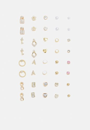 PCQUY EARSTUDS KEY 20 PACK - Earrings - gold-coloured