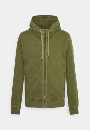 Zip-up hoodie - aged oak
