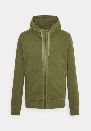Zip-up sweatshirt - aged oak