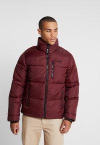 Hollister Co. - PUFFER MOCK BURG - Winter jacket - burgundy - 0