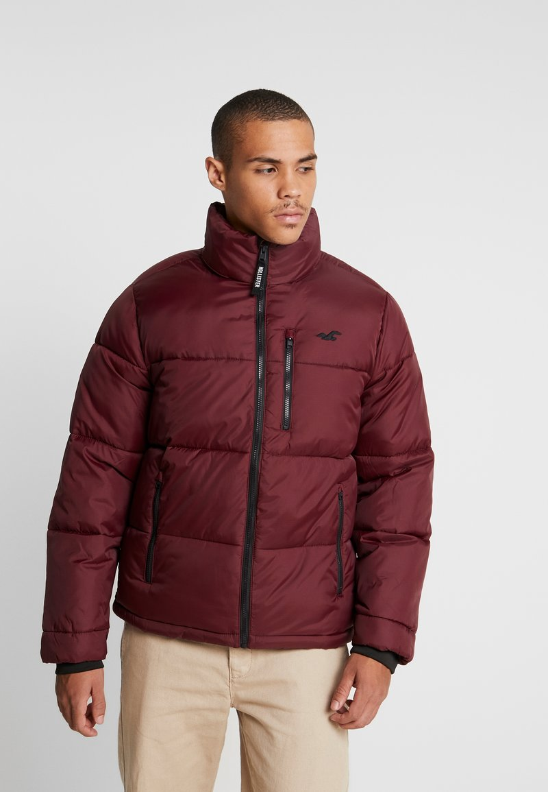 Hollister Co. - PUFFER MOCK BURG - Winter jacket - burgundy