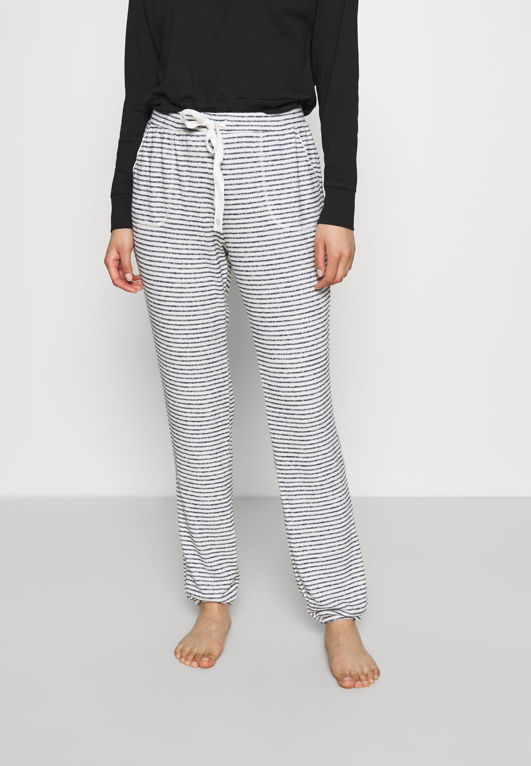 Women PANT BRUSHED JERSEY STRIPE - Pyjama bottoms