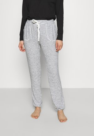 PANT BRUSHED JERSEY STRIPE - Bas de pyjama - dark denim