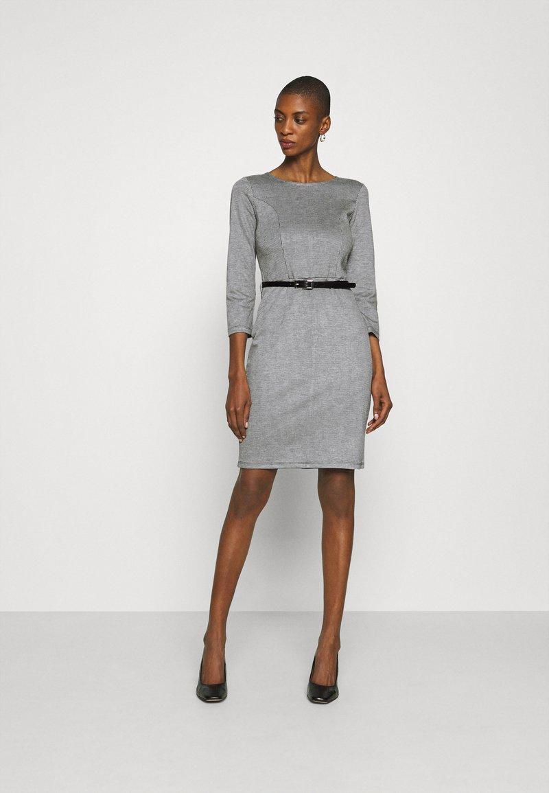 Anna Field - Shift dress - black/white