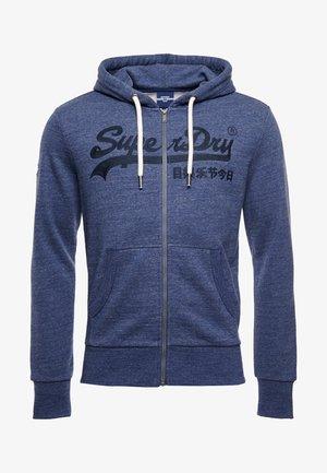 Zip-up sweatshirt - navy grit