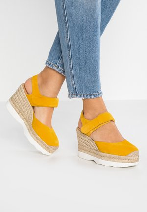 CALANDA - High heeled sandals - yellow