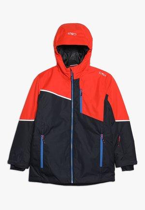 BOY JACKET FIX HOOD - Ski jacket - blue
