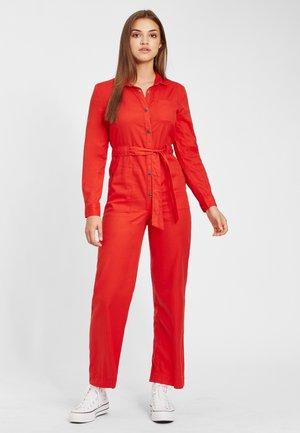 Jumpsuit - fiery red