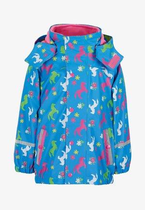 MIT INNENJACKE - Waterproof jacket - azure
