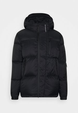 HIGH FILLED PUFFER - Piumino - black