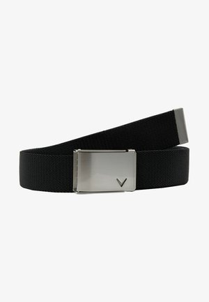 CUT TO FIT STRETCH BELT - Bælter - caviar
