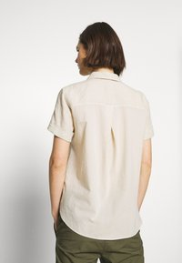 Marc O'Polo - BLOUSE SHORT SLEEVED BUTTON THROUGH STYLE - Button-down blouse - beige - 2