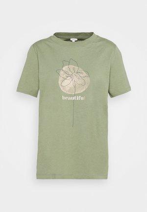 HIGH - Print T-shirt - light khaki