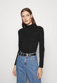 Dorothy Perkins - ROLL NECK 2 PACK  - Long sleeved top - black/camel - 3