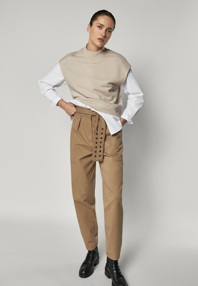 Massimo Dutti - Trousers - brown