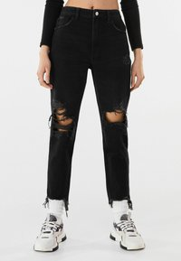 Bershka - Relaxed fit jeans - black - 0