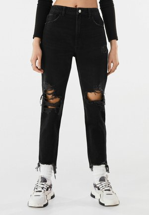 MOM FIT JEANS - Jean boyfriend - black