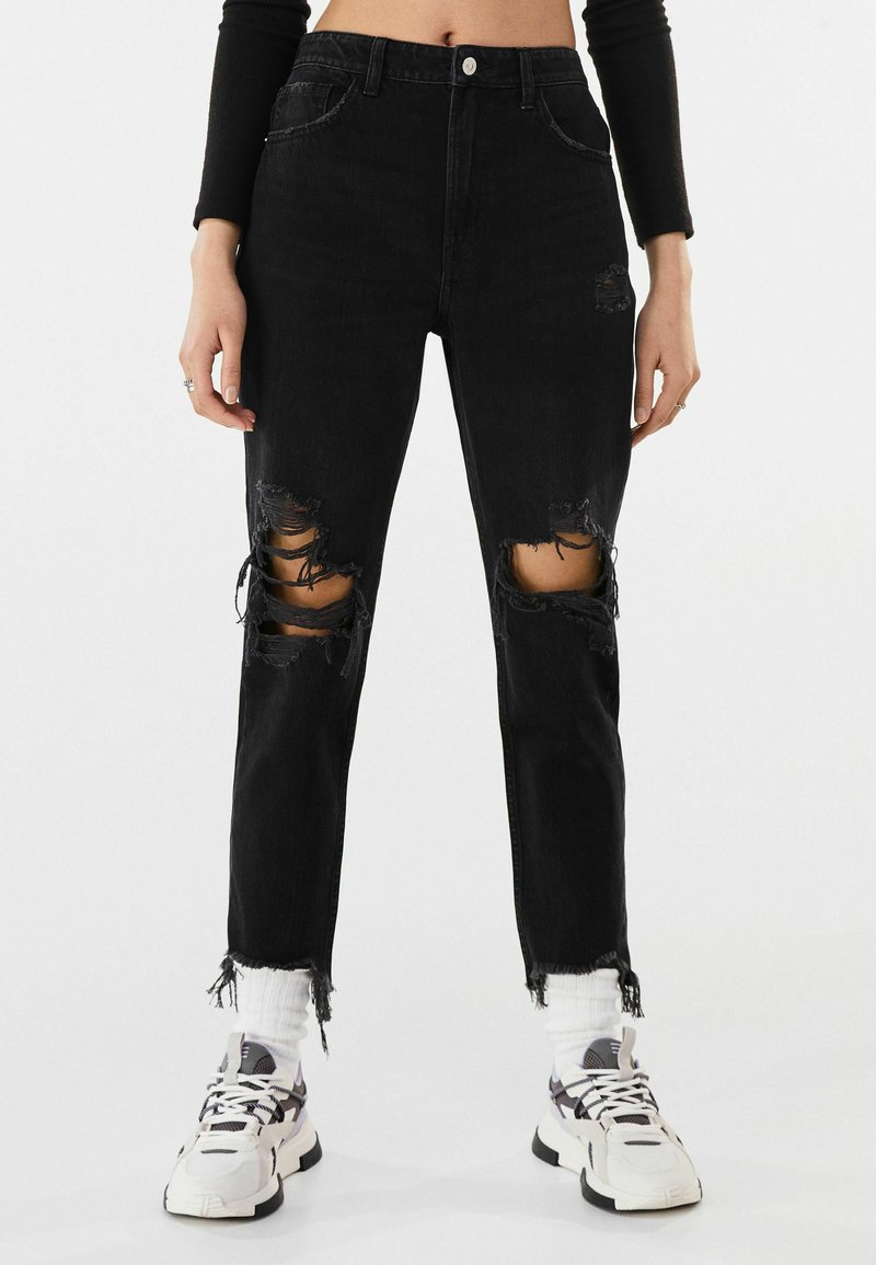 Bershka - Jeans Relaxed Fit - black