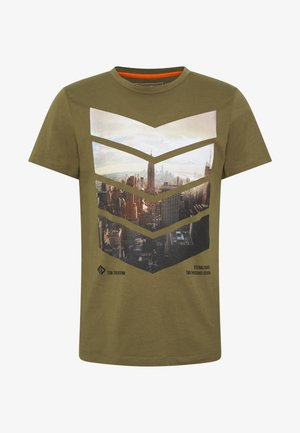WITH FOTOPRINT - Print T-shirt - faded moss green