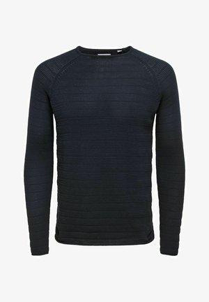 Stickad tröja - dark navy