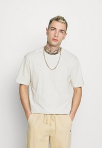 Only & Sons - ONSMILLENIUM LIFE WASHED TEE - T-paita - bright white - 0