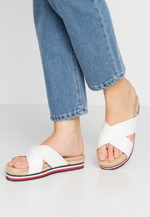 COLORFUL FLAT - Mules - white