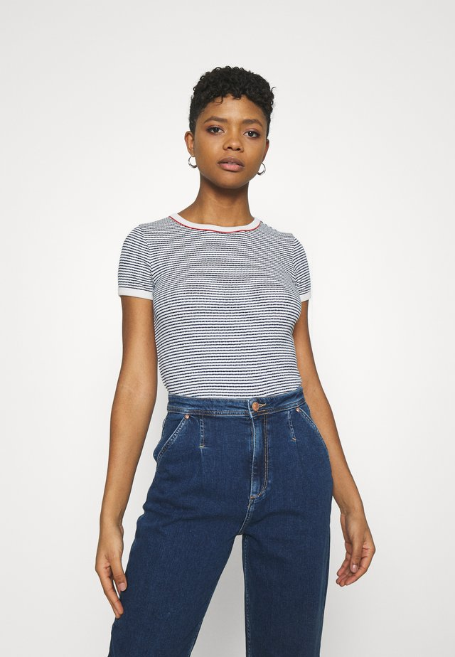 GRAPHIC TEE - T-shirt print - washed blue