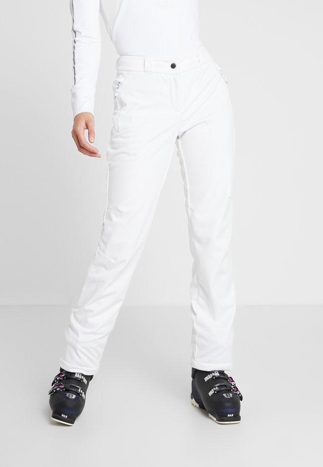 TALPA LADY - Spodnie narciarskie - white