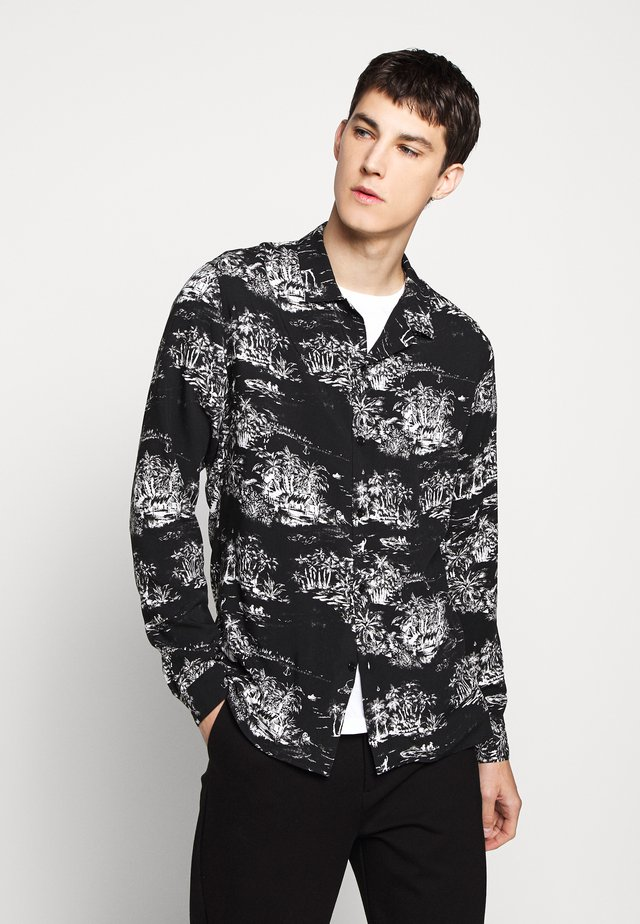CHEMISE PALM PRINT - Camisa - black/ecru