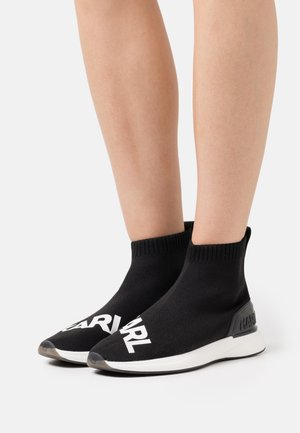 FINESSE LEGERE MID - High-top trainers - black/white