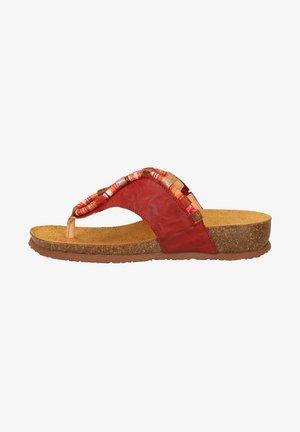 T-bar sandals - cherry/kombi
