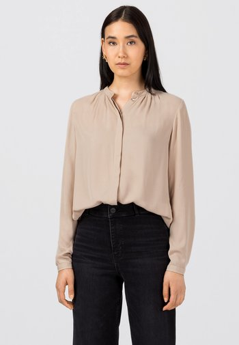 Button-down blouse - milchkaffee