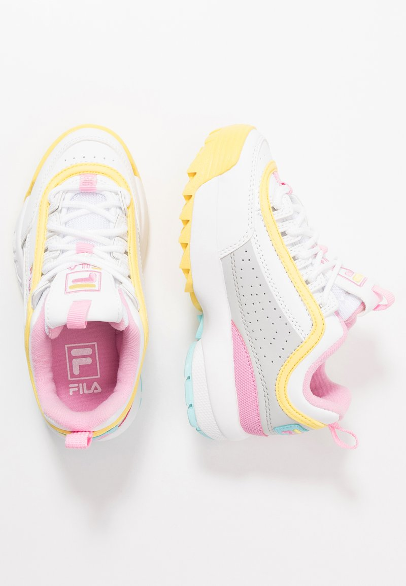 Fila - DISRUPTOR CB  - Sneakers laag - white/limelight