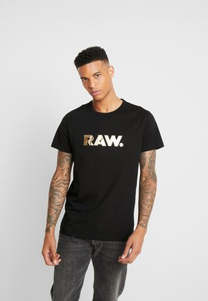 RAW. R T S/S - T-shirt con stampa - black