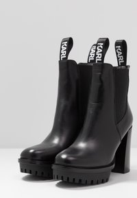 KARL LAGERFELD - VOYAGE GORE BOOT - High heeled ankle boots - black - 4